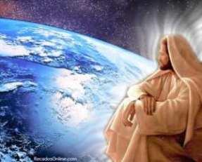 Jesus, olhando à Terra no CAOS